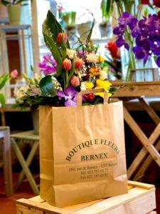 sac livraison bouquet arrangement floral